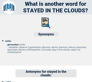 stayed in the clouds, synonym stayed in the clouds, another word for stayed in the clouds, words like stayed in the clouds, thesaurus stayed in the clouds