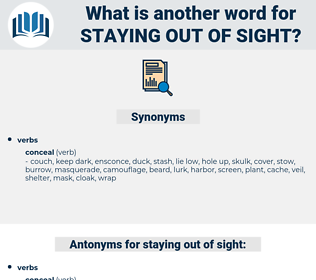 staying out of sight, synonym staying out of sight, another word for staying out of sight, words like staying out of sight, thesaurus staying out of sight