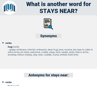 stays near, synonym stays near, another word for stays near, words like stays near, thesaurus stays near