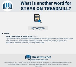 stays on treadmill, synonym stays on treadmill, another word for stays on treadmill, words like stays on treadmill, thesaurus stays on treadmill