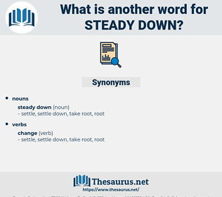 steady down, synonym steady down, another word for steady down, words like steady down, thesaurus steady down
