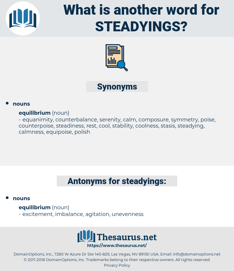 steadyings, synonym steadyings, another word for steadyings, words like steadyings, thesaurus steadyings