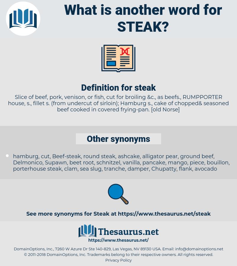 steak, synonym steak, another word for steak, words like steak, thesaurus steak
