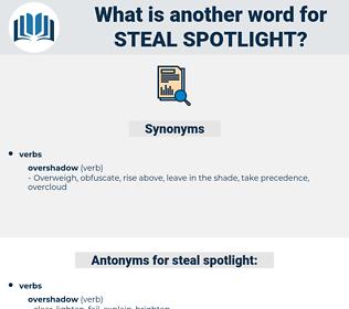 steal spotlight, synonym steal spotlight, another word for steal spotlight, words like steal spotlight, thesaurus steal spotlight