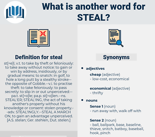 steal, synonym steal, another word for steal, words like steal, thesaurus steal