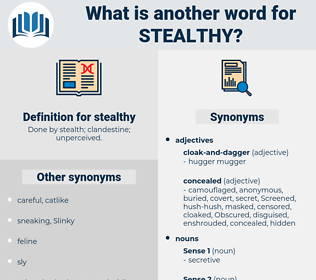 stealthy, synonym stealthy, another word for stealthy, words like stealthy, thesaurus stealthy