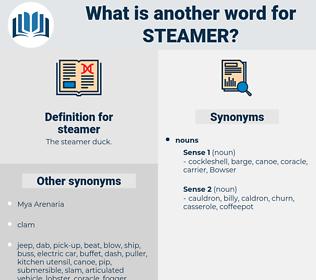 steamer, synonym steamer, another word for steamer, words like steamer, thesaurus steamer