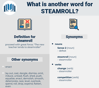 steamroll, synonym steamroll, another word for steamroll, words like steamroll, thesaurus steamroll
