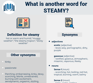 steamy, synonym steamy, another word for steamy, words like steamy, thesaurus steamy