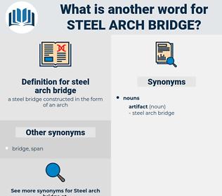 steel arch bridge, synonym steel arch bridge, another word for steel arch bridge, words like steel arch bridge, thesaurus steel arch bridge
