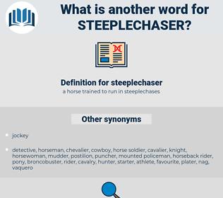 steeplechaser, synonym steeplechaser, another word for steeplechaser, words like steeplechaser, thesaurus steeplechaser