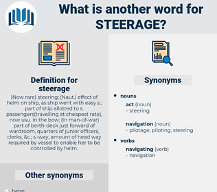 steerage, synonym steerage, another word for steerage, words like steerage, thesaurus steerage
