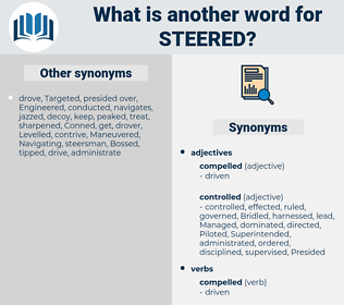 Steered, synonym Steered, another word for Steered, words like Steered, thesaurus Steered