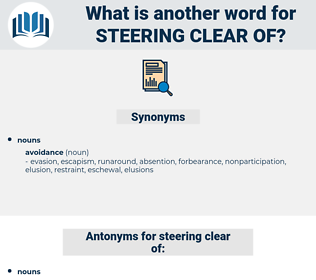 steering clear of, synonym steering clear of, another word for steering clear of, words like steering clear of, thesaurus steering clear of