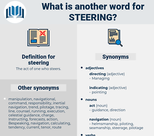 steering, synonym steering, another word for steering, words like steering, thesaurus steering