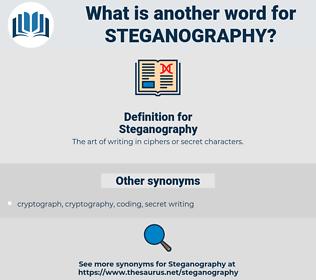 Steganography, synonym Steganography, another word for Steganography, words like Steganography, thesaurus Steganography