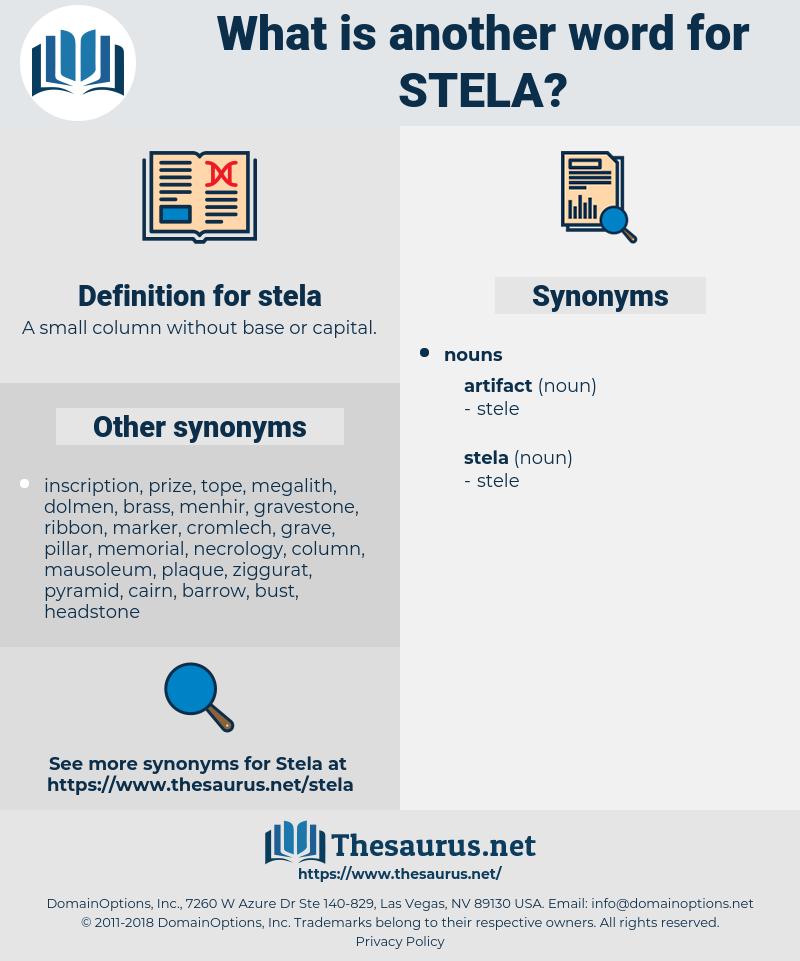 stela, synonym stela, another word for stela, words like stela, thesaurus stela