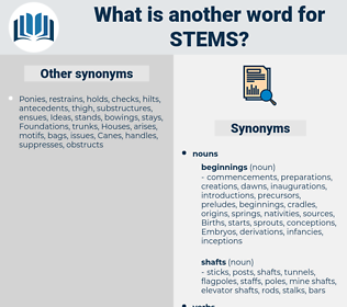 stems, synonym stems, another word for stems, words like stems, thesaurus stems