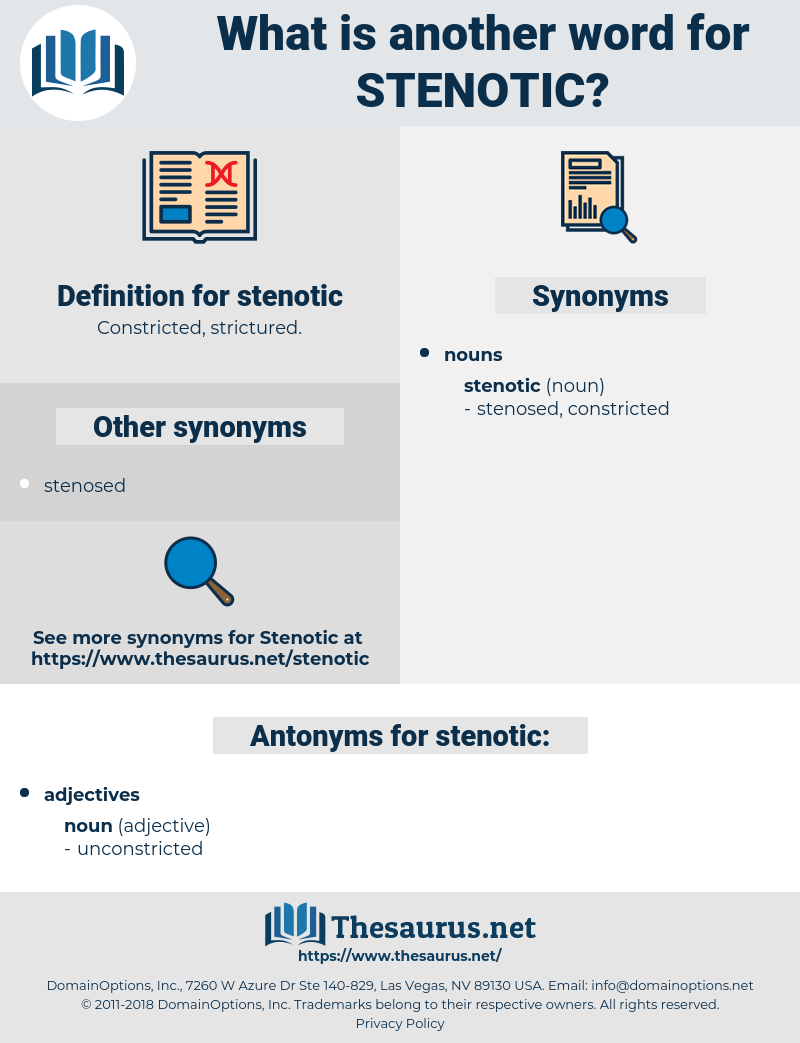 stenotic, synonym stenotic, another word for stenotic, words like stenotic, thesaurus stenotic