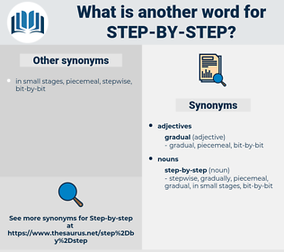 step by step, synonym step by step, another word for step by step, words like step by step, thesaurus step by step