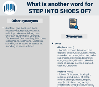 step into shoes of, synonym step into shoes of, another word for step into shoes of, words like step into shoes of, thesaurus step into shoes of