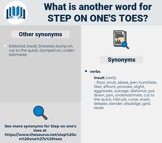step on one's toes, synonym step on one's toes, another word for step on one's toes, words like step on one's toes, thesaurus step on one's toes