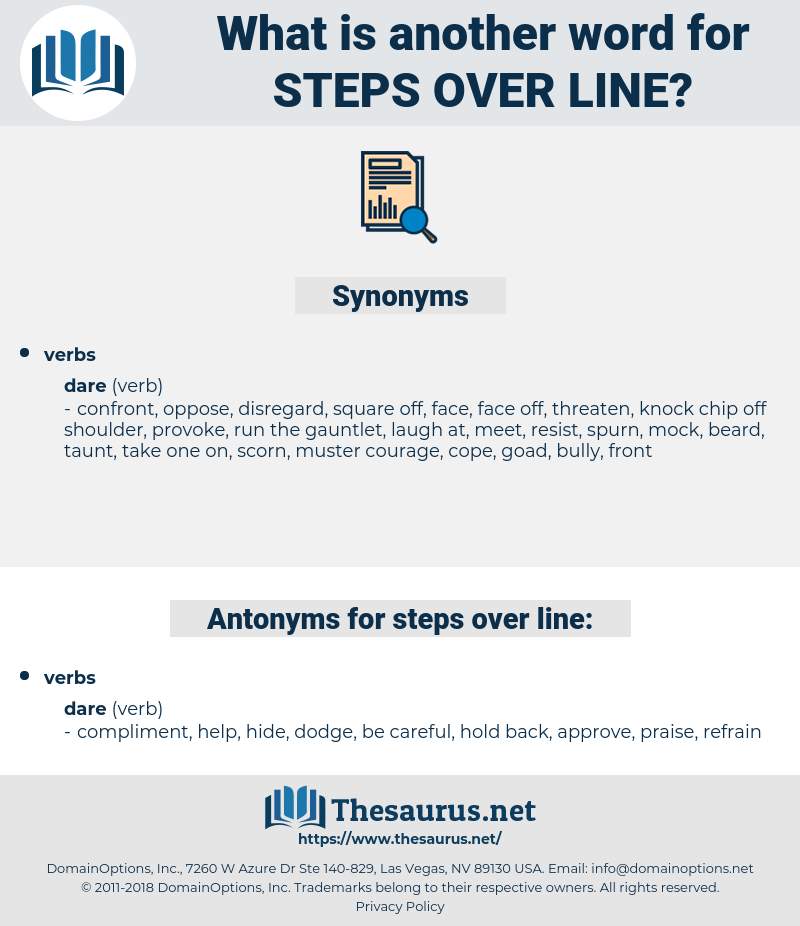 steps over line, synonym steps over line, another word for steps over line, words like steps over line, thesaurus steps over line