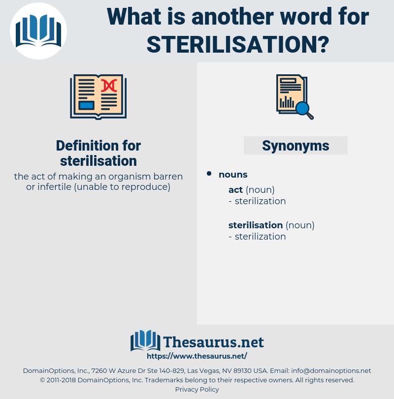 sterilisation, synonym sterilisation, another word for sterilisation, words like sterilisation, thesaurus sterilisation
