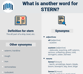 stern, synonym stern, another word for stern, words like stern, thesaurus stern