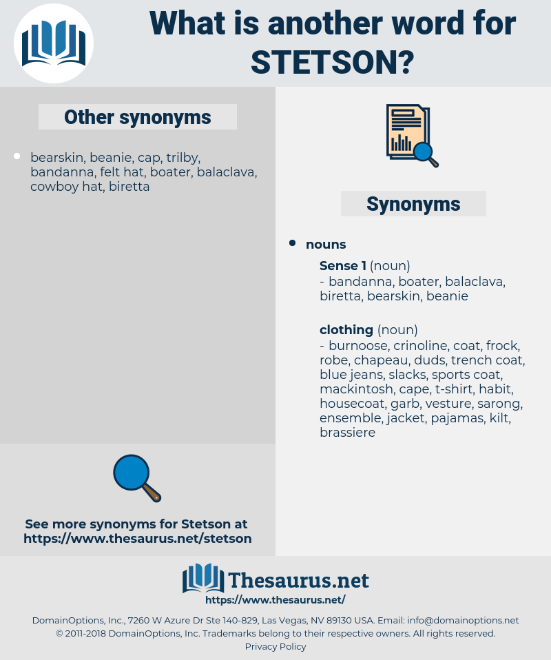 stetson, synonym stetson, another word for stetson, words like stetson, thesaurus stetson