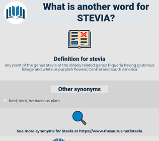 stevia, synonym stevia, another word for stevia, words like stevia, thesaurus stevia