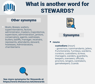 stewards, synonym stewards, another word for stewards, words like stewards, thesaurus stewards