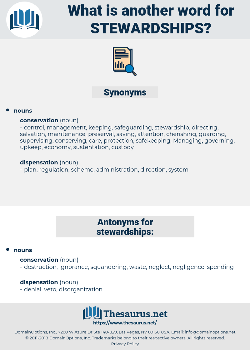 stewardships, synonym stewardships, another word for stewardships, words like stewardships, thesaurus stewardships