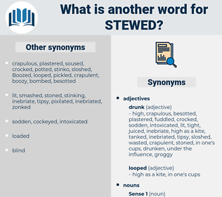 stewed, synonym stewed, another word for stewed, words like stewed, thesaurus stewed