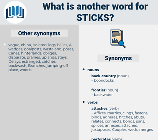 sticks, synonym sticks, another word for sticks, words like sticks, thesaurus sticks