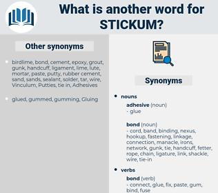 stickum, synonym stickum, another word for stickum, words like stickum, thesaurus stickum