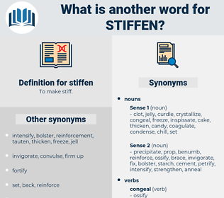 stiffen, synonym stiffen, another word for stiffen, words like stiffen, thesaurus stiffen