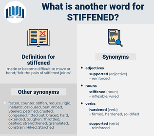 stiffened, synonym stiffened, another word for stiffened, words like stiffened, thesaurus stiffened