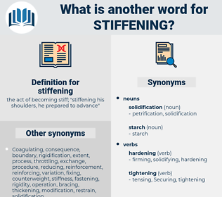 stiffening, synonym stiffening, another word for stiffening, words like stiffening, thesaurus stiffening