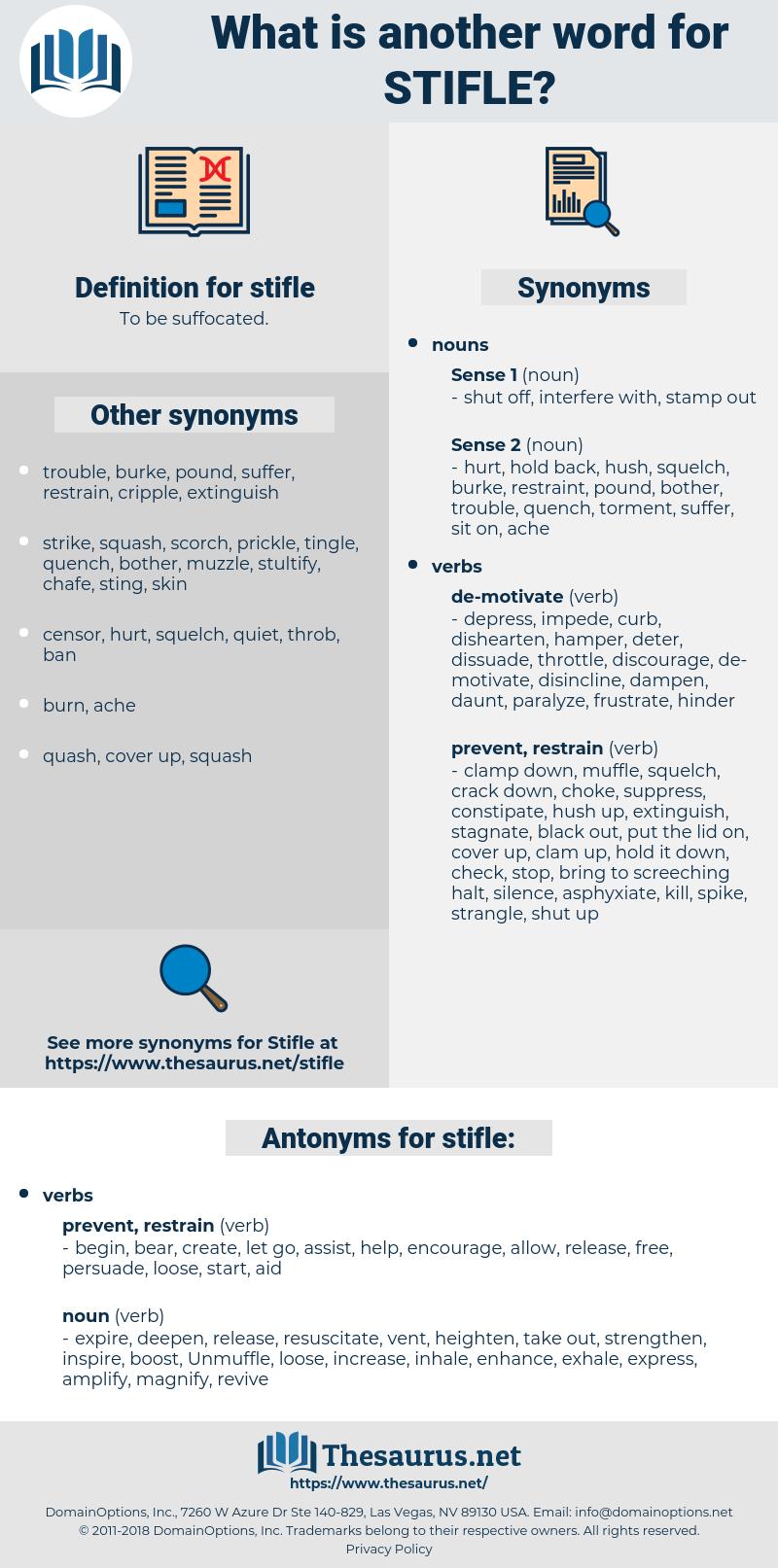 stifle, synonym stifle, another word for stifle, words like stifle, thesaurus stifle