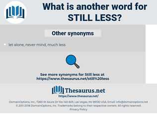 still less, synonym still less, another word for still less, words like still less, thesaurus still less