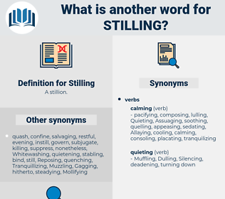 Stilling, synonym Stilling, another word for Stilling, words like Stilling, thesaurus Stilling