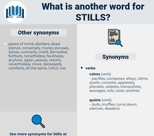 stills, synonym stills, another word for stills, words like stills, thesaurus stills