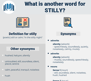 stilly, synonym stilly, another word for stilly, words like stilly, thesaurus stilly