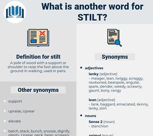 stilt, synonym stilt, another word for stilt, words like stilt, thesaurus stilt