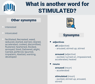 stimulated, synonym stimulated, another word for stimulated, words like stimulated, thesaurus stimulated