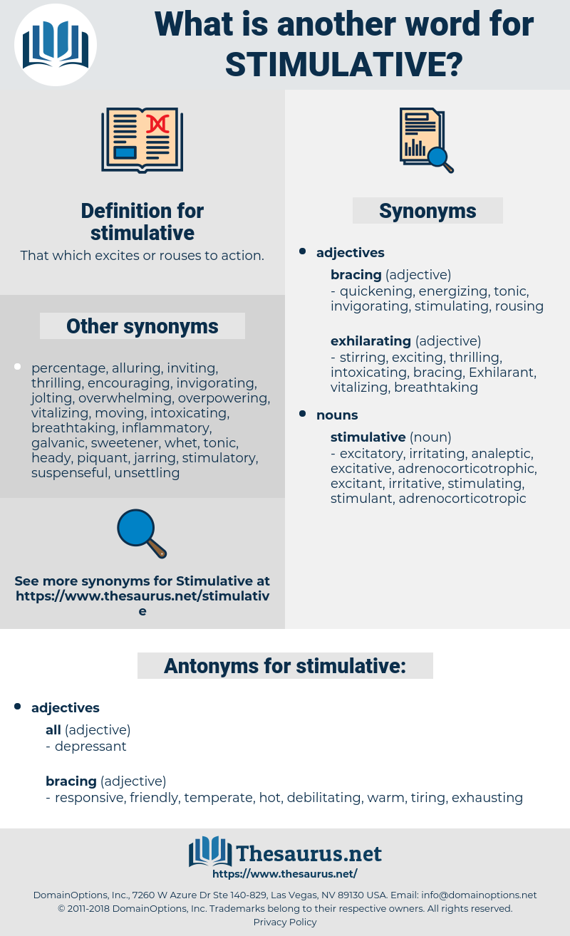 stimulative, synonym stimulative, another word for stimulative, words like stimulative, thesaurus stimulative
