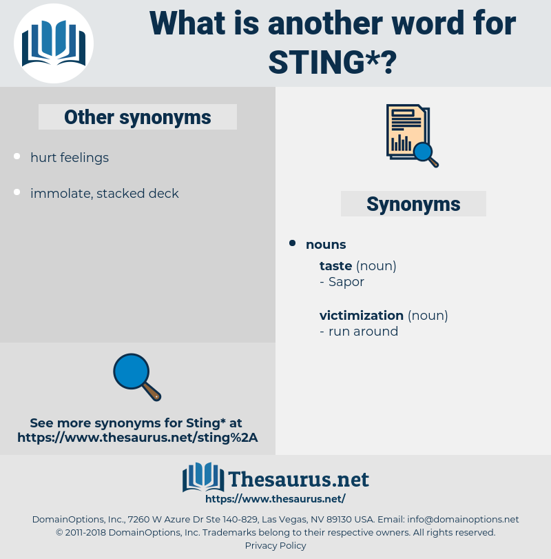 sting, synonym sting, another word for sting, words like sting, thesaurus sting