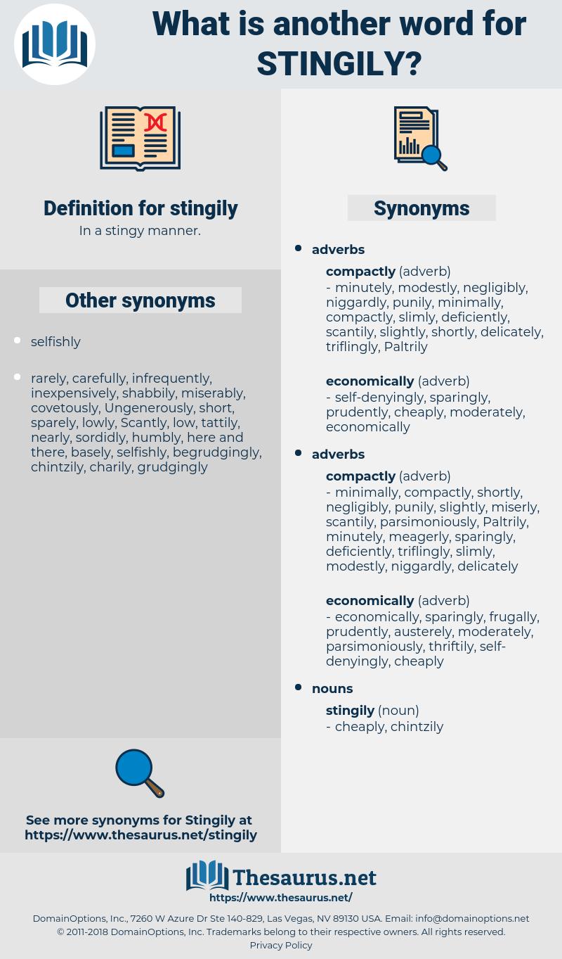 stingily, synonym stingily, another word for stingily, words like stingily, thesaurus stingily