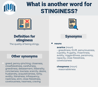 stinginess, synonym stinginess, another word for stinginess, words like stinginess, thesaurus stinginess